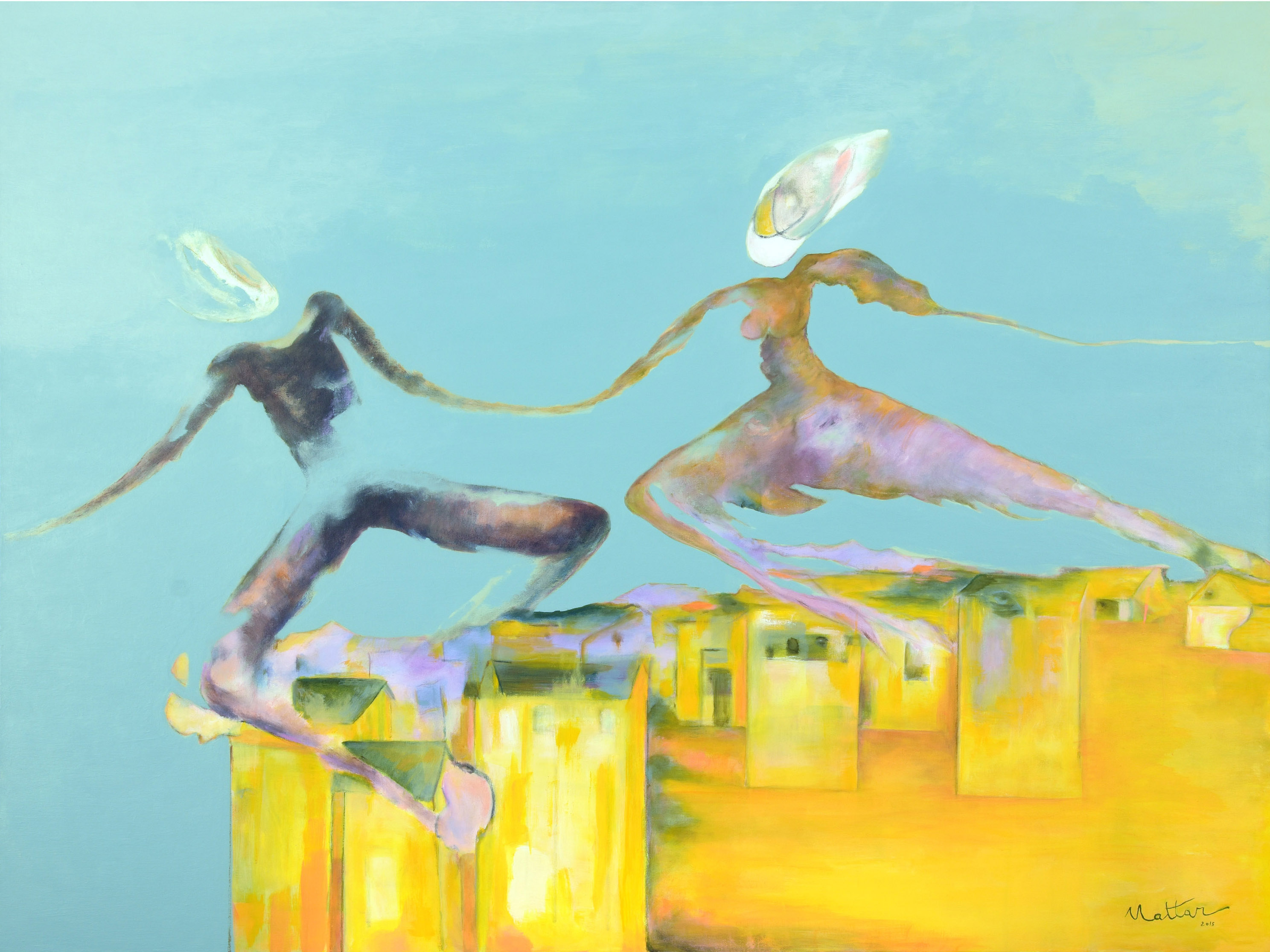 Mattar Malerei Tanz Acryl Gemaelde