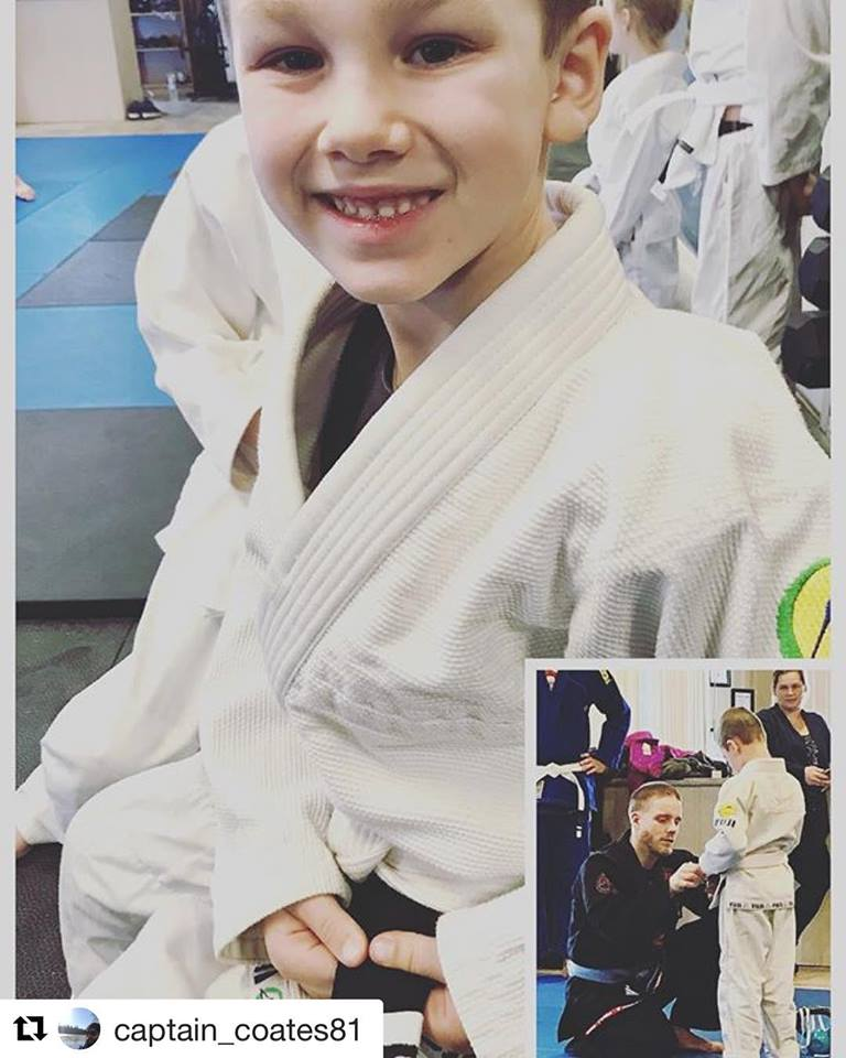 Jude received his first stripe!