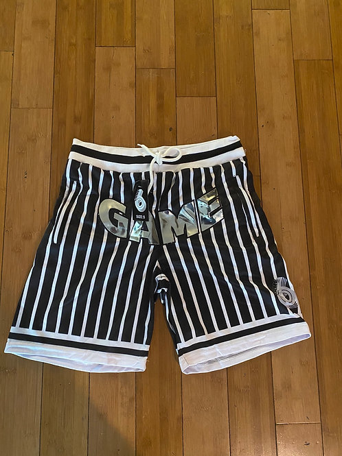 Game 6 Striped Basketball Shorts