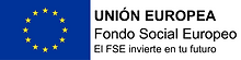 Logotipo FSE. Horizontal bandera izquier