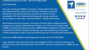 COMUNICADO OFICIAL - REVISTA MELHOR