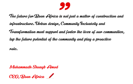 Boon Africa Quote Muhammadh Shuayb Amod.