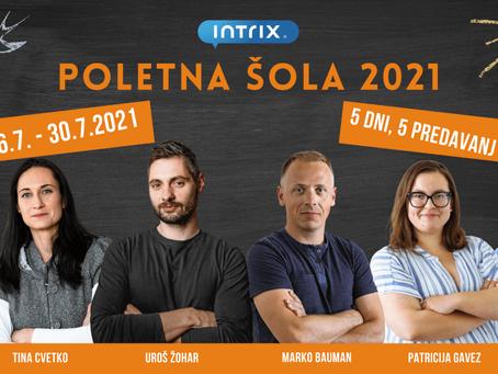 Vabljeni na poletno šolo Intrix 2021