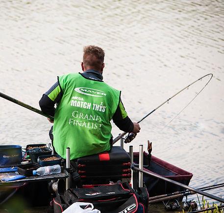 Jamie Wilde fishing at Hayfield Lakes