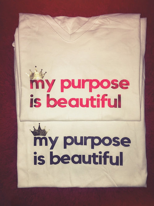 """TheLaughMore: """"My Purpose is Beautiful"""" Conversation Tee"""