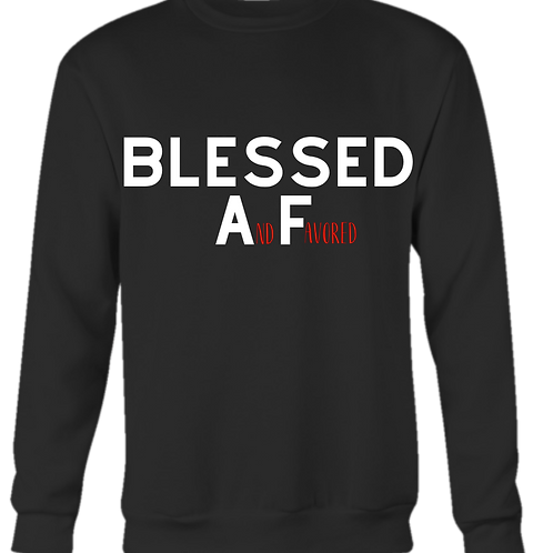 BLESSED And Favored CREWNECK SWEATSHIRT