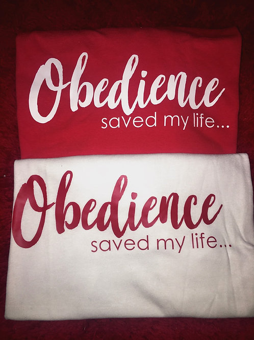 "TheLaughMore: ""Obedience Saved My Life"" Conversation Tee"