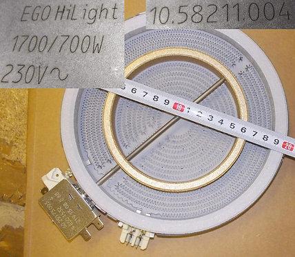 Конфорка двухзонная для стеклокерамических плит HiLight D200/125mm, 1700/700W
