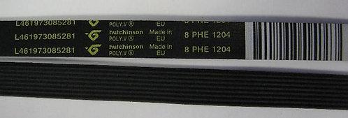 Ремень  L-1204 H8 (MEGADYNE) черный 481235818167