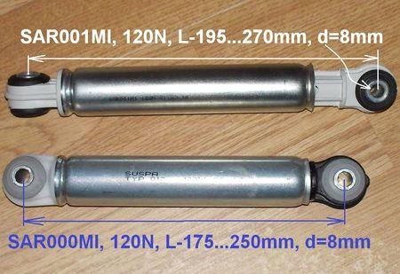 Амортизаторы для стиральной машины Miele, Bosch 120N