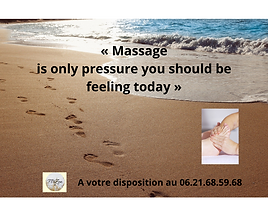 « Massage is only pressure you should be