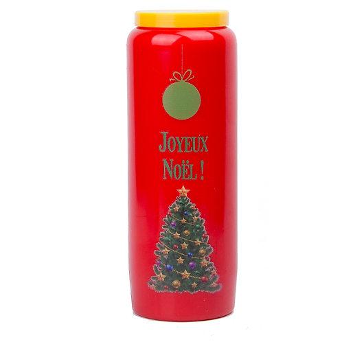 Bougie neuvaine rouge -  Joyeux Noël