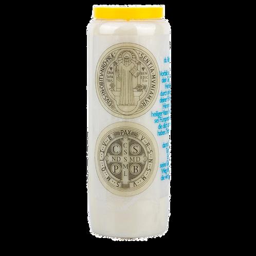 Novene Kerze van Die Medaille des heiligen Benedikt
