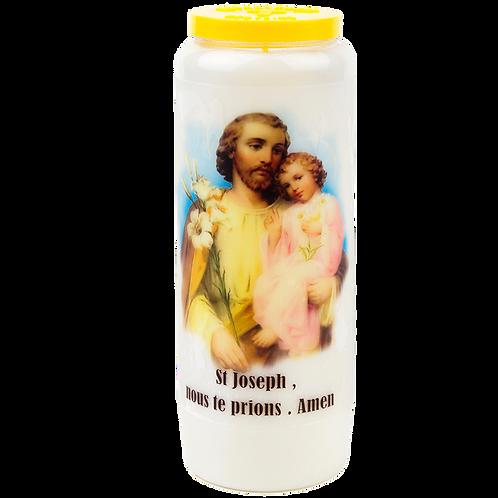 Bougie neuvaine de Saint Joseph