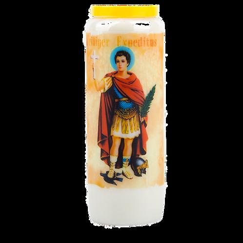 Novene Kerze van Heiliger Expeditus