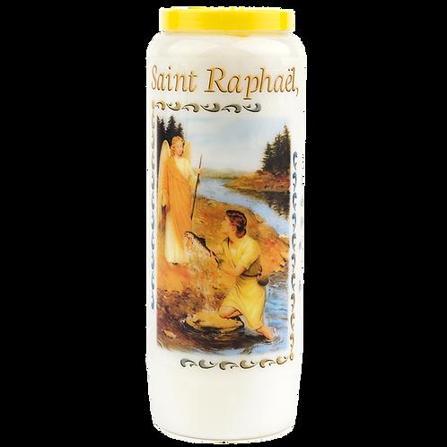 Bougie neuvaine de Saint Raphaël