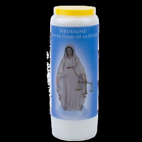 Bougie neuvaine de Notre Dame de Justice