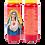 Bougie neuvaine rouge - Sacré Coeur de Marie