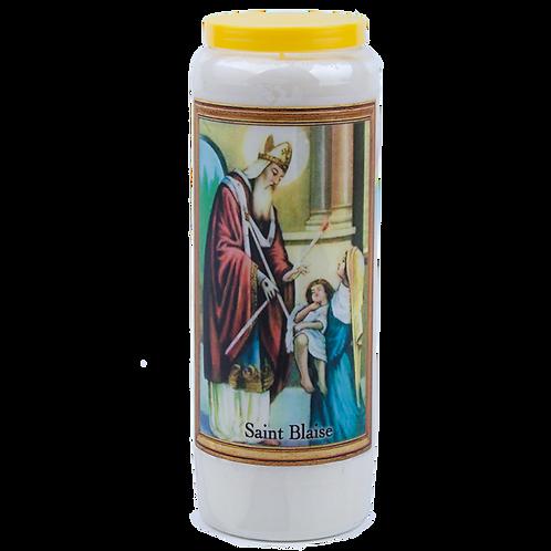 Bougie neuvaine de Saint Blaise