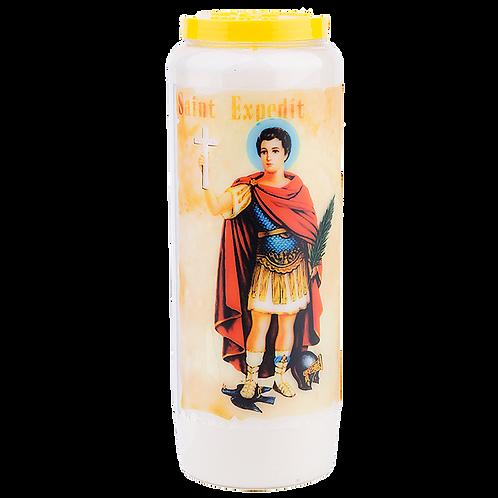 Bougie neuvaine de Saint Expédit