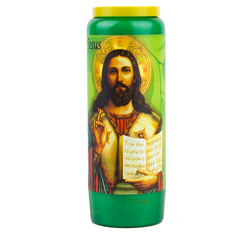Novene Kerze Grüne van Jesus