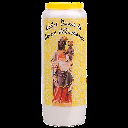 Bougie neuvaine de Notre Dame de bonne délivrance