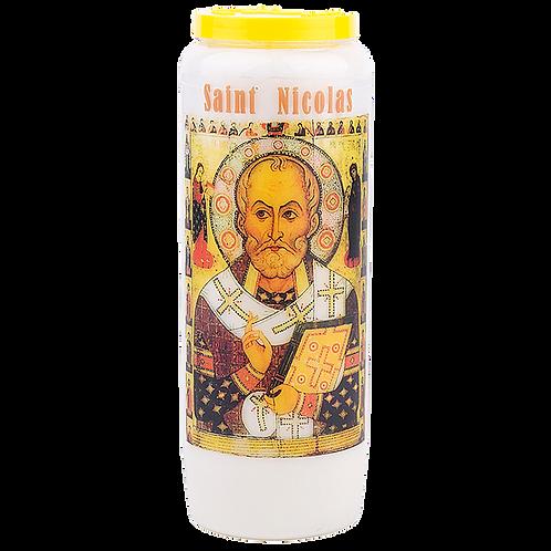 Bougie neuvaine de Saint Nicolas