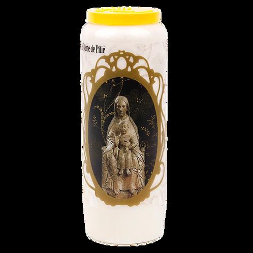 Bougie neuvaine de Notre Dame de Pitié