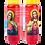 Bougie neuvaine rouge - Sacré Coeur de Marie et Jésus