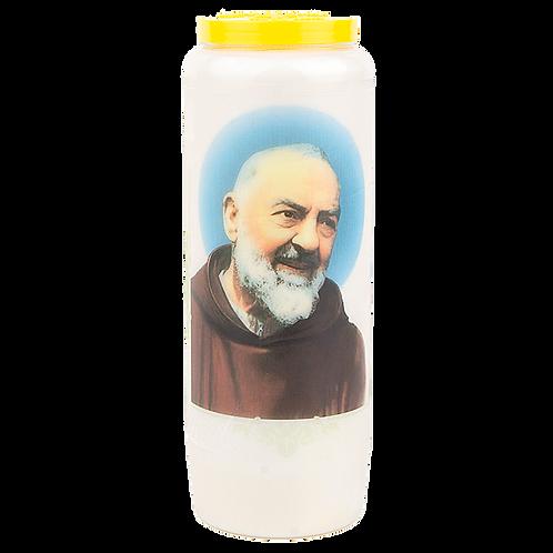 Bougie neuvaine de Padre Pio