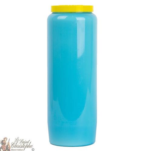 Bougie neuvaine bleue clair / Novena candle light blue