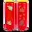 Bougie neuvaine rouge pour la Toussaint - Automne 2