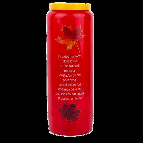 Bougie neuvaine rouge pour la Toussaint - Automne 1