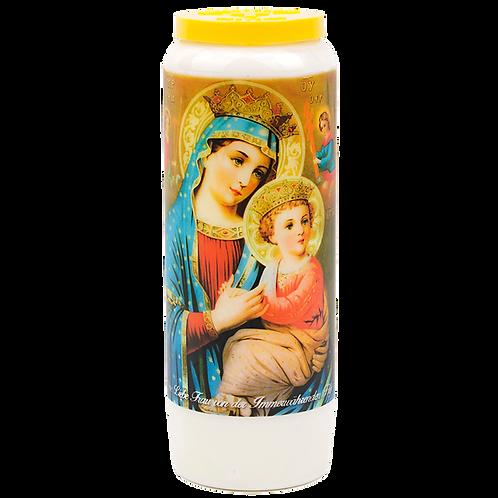 Novene Kerze Unserer Lieben Frau von Perpetual Relief