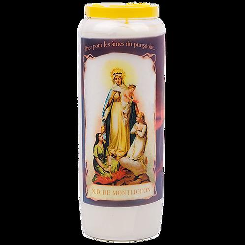 Bougie neuvaine de Notre Dame de Montligeon