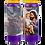 Novene Kerze lila van Heiliger Josef