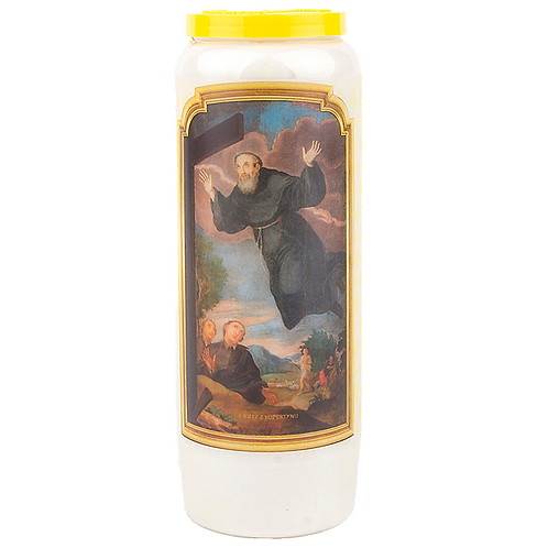 Bougie neuvaine de Saint Joseph de Cupertino