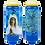 Bougie neuvaine bleue - Notre Dame de Banneux