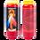 Bougie neuvaine rouge - Christ miséricordieux