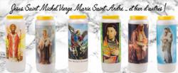 Bougie neuvaine de saints et saintes