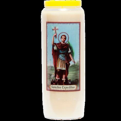 Bougie neuvaine de  Saint Expedit