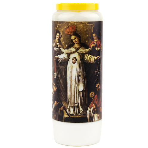 Bougie neuvaine de Notre Dame de la merci
