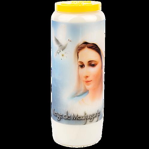 Bougie neuvaine de la Vierge de Medjugorje