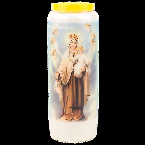 Bougie neuvaine de la Vierge du Scapulaire