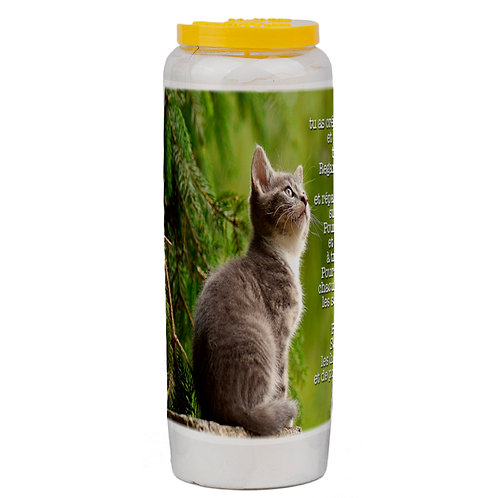 bougie neuvaines animaux chaton kitty cat chat priere prayer candle