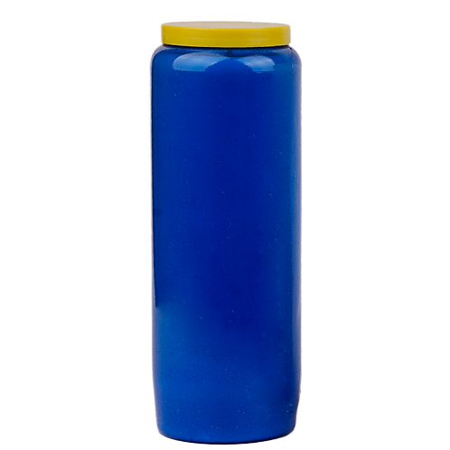 Bougie neuvaine bleue foncée / Dark blue candle novena