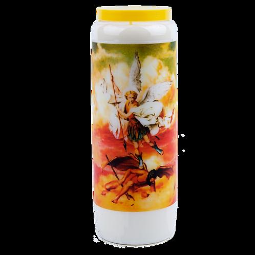 Novena candle to Saint Michael