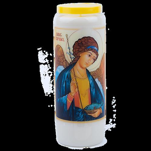 Novene Kerze van Heilige Raphael