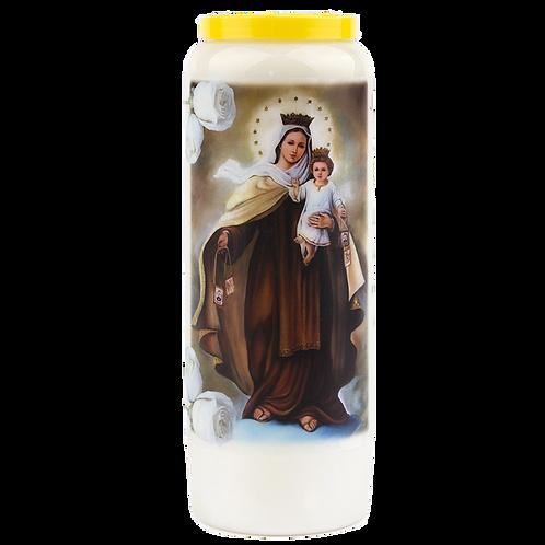 Bougie neuvaine de Notre Dame du mont Carmel