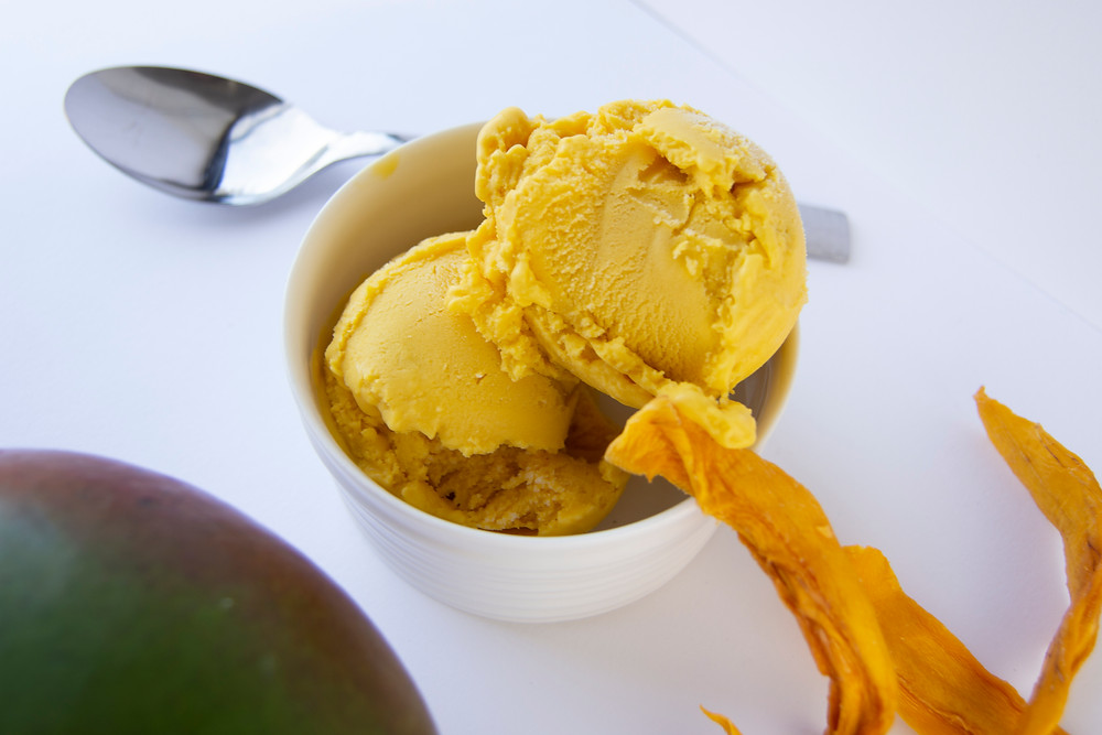 Mama Dolce luxurious free-from mango ice cream - dairy free